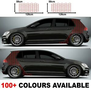 Car Camouflage kit hexagon honeycomb mesh side stickers decals