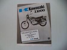 advertising Pubblicità 1977 GRASSOTTI E ROSA e KAWASAKI Z1000 Z 1000