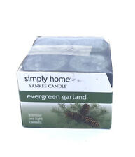 Yankee Candle Simply Home Tealights Evergreen Garland 12 Count