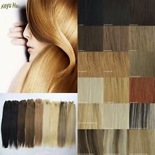 "Human Hair Weft 100% Remy Straight DIY Human Hair Extensions 100g 14""-26"""