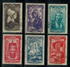 (a2) timbres France n° 593/598 oblitérés année 1943