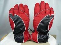 * Thinsulate Insulation 40 gram Red Black Gloves Sz Medium Cuff