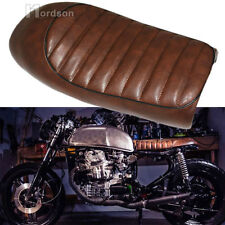 Universal Brown Motorcycle Hump Seat Cafe Racer Saddle For Honda CB350 CB450 New
