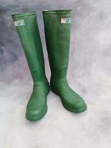 Original Tall Hunter Wellies Boots Green Size UK 7