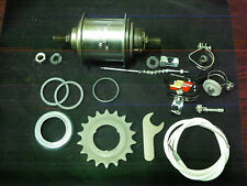 Vintage Sturmey Archer Bicycle Hub 3 speed 36 Holes kit completed NOS 1972