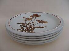 """Royal Tudor 10.25"""" Ironstone Dinner Plate """"Poppy"""" Set of 5."""