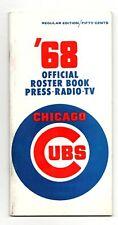 1968 Chicago Cubs Media Guide Press Book Santo Banks Durocher B. Williams