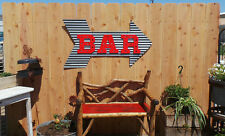 Metal Corrugated Bar with Arrow Sign Wall Hanging/Drinking/Patio/BBQ