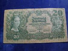 20 Schilling 1928  Banknote Österreich - Schein  W/17/126