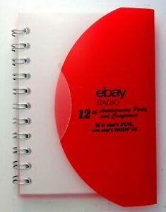 "Official eBay Radio Party 2015 Branded Spiral Bound mini notebook journal 4""x3"""