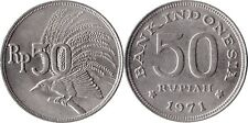 1971 INDONESIA 50 RUPIAH COIN CARDED 1971 INDONESIAN MONEY #2473