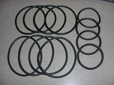 Pinball Black Rubber Rings, 4 Each Size Shown,  Brand New! At Cost Shipping!