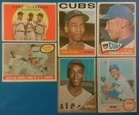 Vintage 1959-68 Topps Old Baseball Cards 6card Lot *HOF Ernie Banks '65 #510*