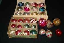 Lot of 30 Vintage Glass Christmas Tree Ornaments Small /Medium Assorted