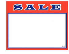 """100 - 3.5"""" x 5.5"""" Sale price cards for Retail Stores Signage Very Nice"""