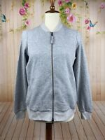 Eileen Fisher Gray Colored Full Zip Cardigan Sweater Jacket Cotton XS