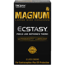 Trojan Magnum Ecstasy Ultrasmooth Lubricated - 10 count
