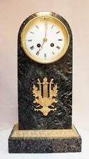 ANTIQUE 1870 FRENCH  EMPIRIC CLOCK  BLACK MARBLE HEAVY GILDED AD MOUGIN