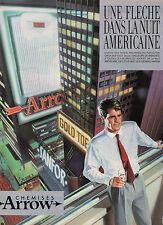 Publicité 1984  Chemises ARROW pret à porter collection mode vetement
