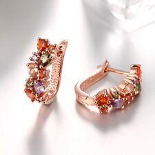 Multi Color Mona Lisa Wedding Earrings Rose Gold Plated Women Gift Earring