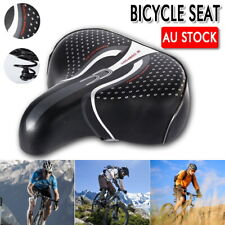 Soft Unisex Wide Big Bum Sprung Bike Bicycle Gel Cushioned Saddle Seat Comfort