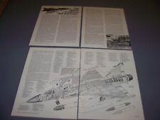 VINTAGE..JAS 39 GRIPEN..HISTORY/CUTAWAY/3-VIEWS..RARE! (202F)