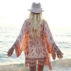 Women Floral Loose Shawl Vintage Kimono Cardigan Boho Chiffon Coat Jacket Blous#