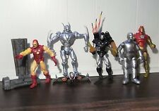 Marvel Legends Iron Man Lot!! Ultron-War Machine-(3) Iron Man-W/Base & Stand