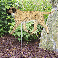 Mastiff Outdoor Garden Dog Sign Hand Painted Figure Fawn Brindle