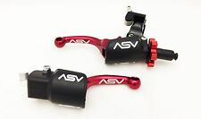 ASV F3 Pro Pack Shorty Red Unbreakable Brake + Clutch Levers TRX 450R Kickstart