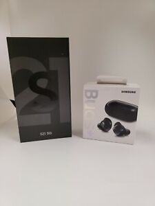 Unlocked silver Samsung S21 and Free Galaxy Buds Plus