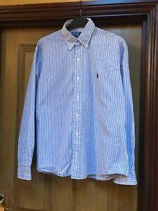 Men's Ralph Lauren Shirt , Medium, Blue/White stripe , Great condition