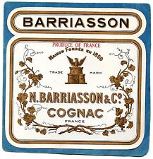 COGNAC VIEILLE LITHOGRAPHIE COGNAC N BARRIASSON &CO §13/09§