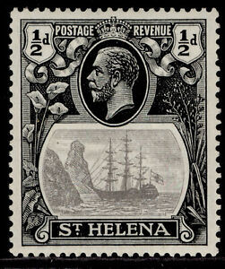 ST. HELENA GV SG97, ½d grey & black, LH MINT.