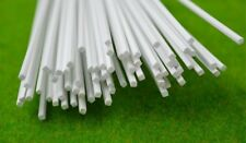 2mm by 2mm by 500mm White Square Plastic Profile Model OO/HO Gauge