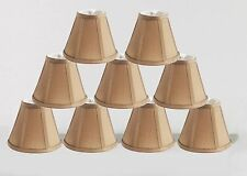 Urbanest Empire Chandelier Lamp Shade in Silk,Set of 9,Bell 3x6x5 Taupe,Softback