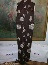 EMILIO PUCCI Brown CASHMERE SHAWL WRAP Beige Gold MINT See SKIRT & BELT in STORE
