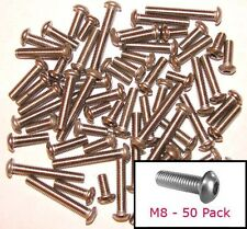M8 inoxidable botón Cabeza pernos Allen - 8 Mm button/mushroom/round X50 mixto Pack