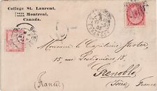 Canada to France Postag due T15 x 2 = T30 centimes due tied to cover 1903Numeral