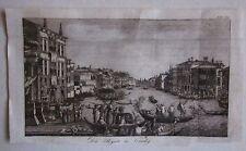 1800ca DIE REGATE IN VENEDIG rara acquaforte regata sul Canal Grande a Venezia