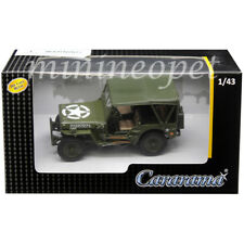 CARARAMA 4-90180 MILITARY VEHICLES 1/43 WILLYS 1/4 TON JEEP ARMY GREEN