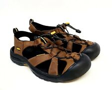 Keen Venice Bison Brown Leather Outdoor Hiking Waterproof Sandals Mens Size 9.5