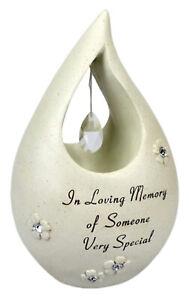 Someone Very Special Teardrop Graveside Memorial Ornament Grave Diamnate Plaque