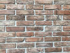 brick slips brick tiles  reclaimed 19th century clay dark red/brown