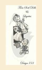 Riproduzione vintage TWIN calzino bambole & LAYETTE cucito PATTERN D753