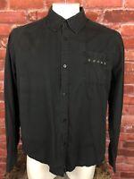 Men's Tripp NYC Men's Black Button Long Sleeve Shirt Size 2XL -wsh