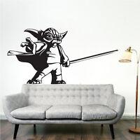 Yoda Wall Decal Sticker, Star Wars Wall Decals, Rebellion Wall Vinyl, g70