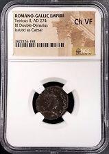 Romano-Gallic Empire, Tetricus II, AD 274, BI Double-Denarius, NGC graded Ch VF!