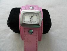 Roxy Quartz Ladies Watch with a Wide Pink Band