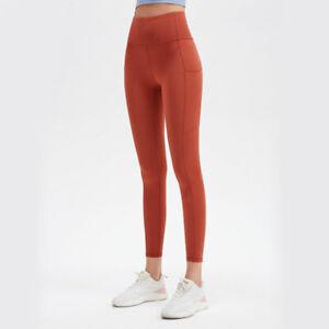 Women's High Waist Yoga Pants with Pockets Tummy Control Leggings Workout Pants